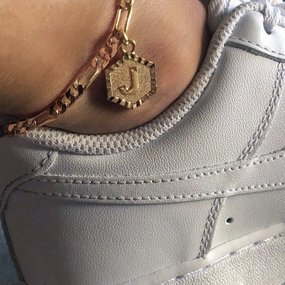 Initial Anklet - Pine Jewellery