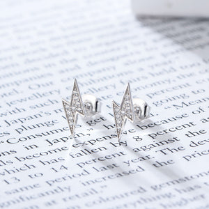 Lightning Bolt Earrings - Pine Jewellery