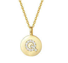 Load image into Gallery viewer, Gold Vermeil Initial Necklace - Pine Jewellery