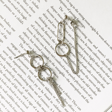 Load image into Gallery viewer, Silver Asymmetric Earrings - Pine Jewellery