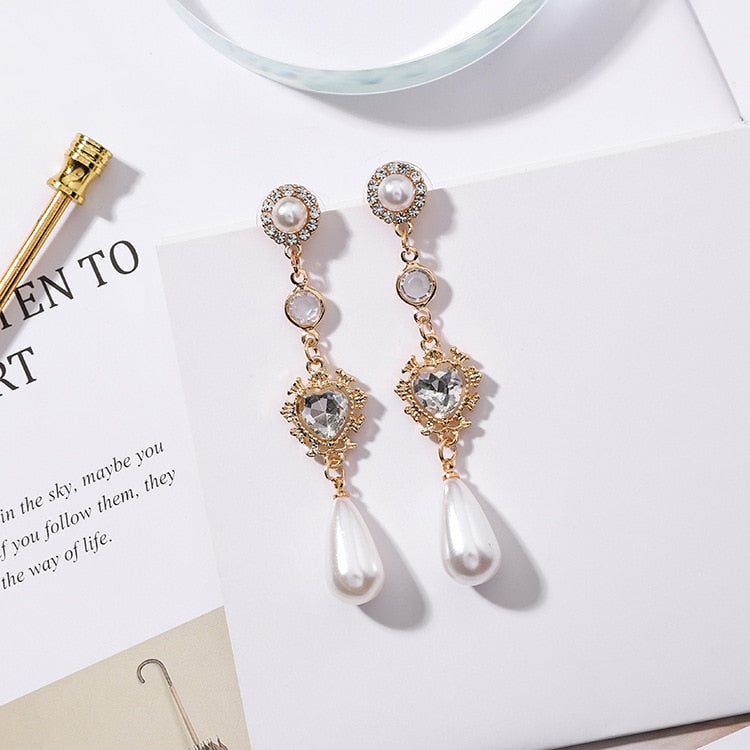 Pearl Drop Earrings - Pine Jewellery