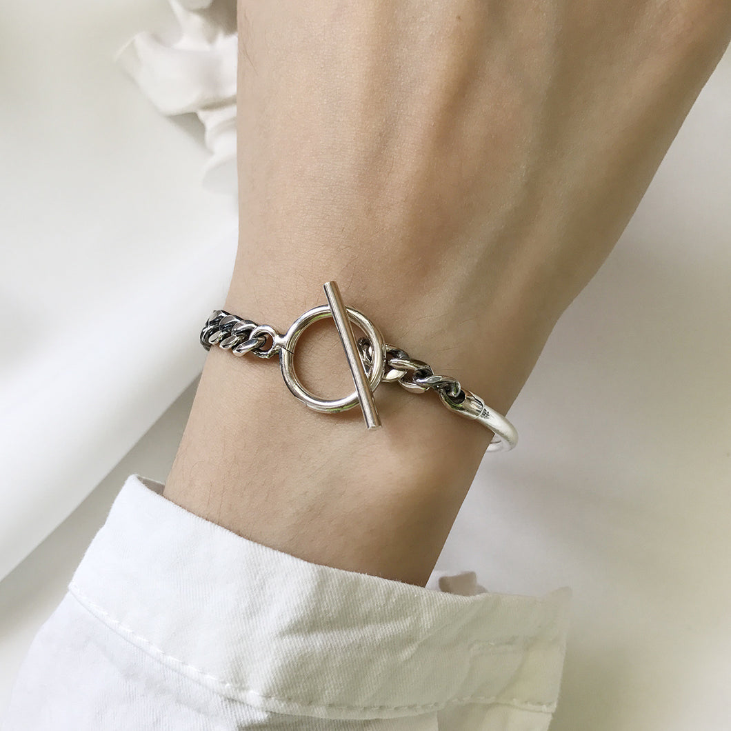 Interlocked Silver Bracelet - Pine Jewellery