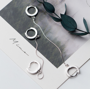 Handcuff Silver Earrings - Pine Jewellery