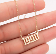 Load image into Gallery viewer, Personalized Year Necklace - Pine Jewellery
