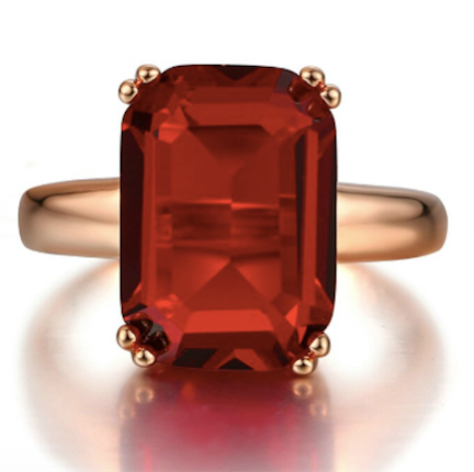 Luxe Red CZ Ring - Pine Jewellery