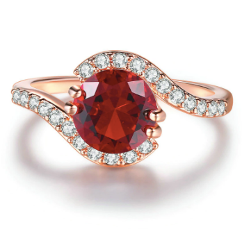 Infinity Red CZ Ring - Pine Jewellery