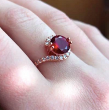 Load image into Gallery viewer, Infinity Red CZ Ring - Pine Jewellery