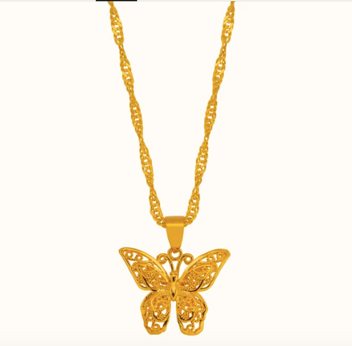 Butterfly Necklace - Pine Jewellery