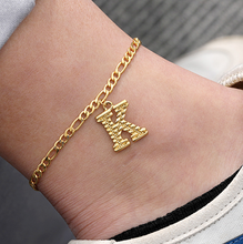 Load image into Gallery viewer, Alphabet Anklet - Pine Jewellery