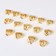 Load image into Gallery viewer, Adjustable Custom Letter Rings - Pine Jewellery