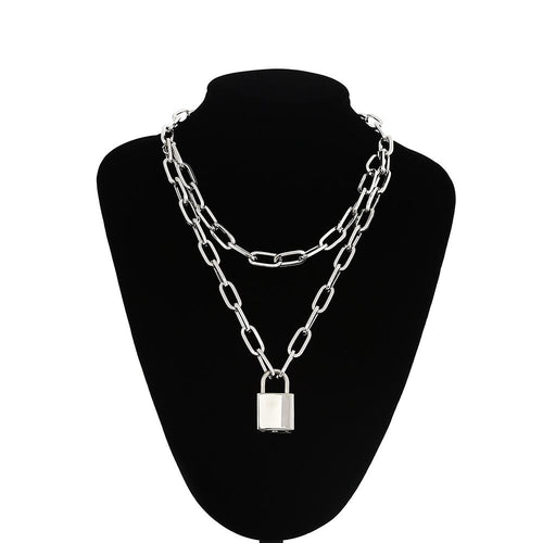 Chained Lock Necklace - Pine Jewellery
