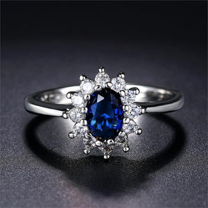 Classy Royal Blue CZ Ring - Pine Jewellery