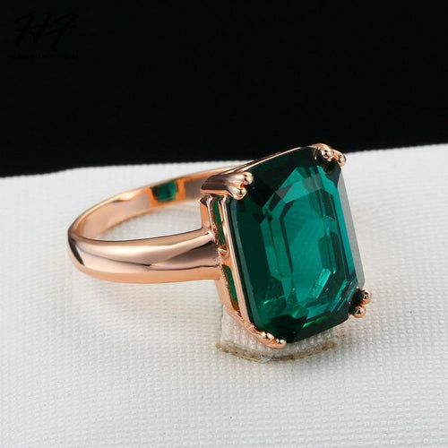 Luxe Green CZ Ring - Pine Jewellery