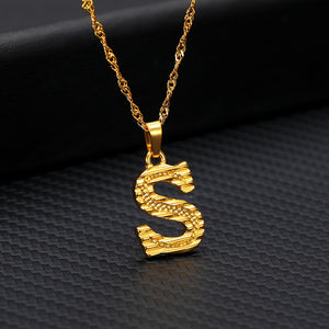 Initial Letter Necklace - Pine Jewellery