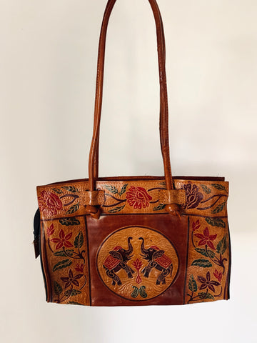 Vintage Ethnic Leather Bag