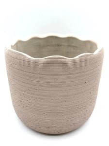 Home Styling Scalloped Rim Ceramic Planter