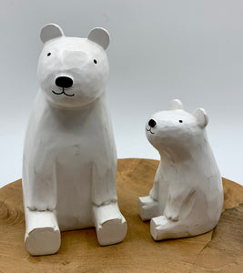 Hand Finished Wooden Animal Gift - Polar Bears