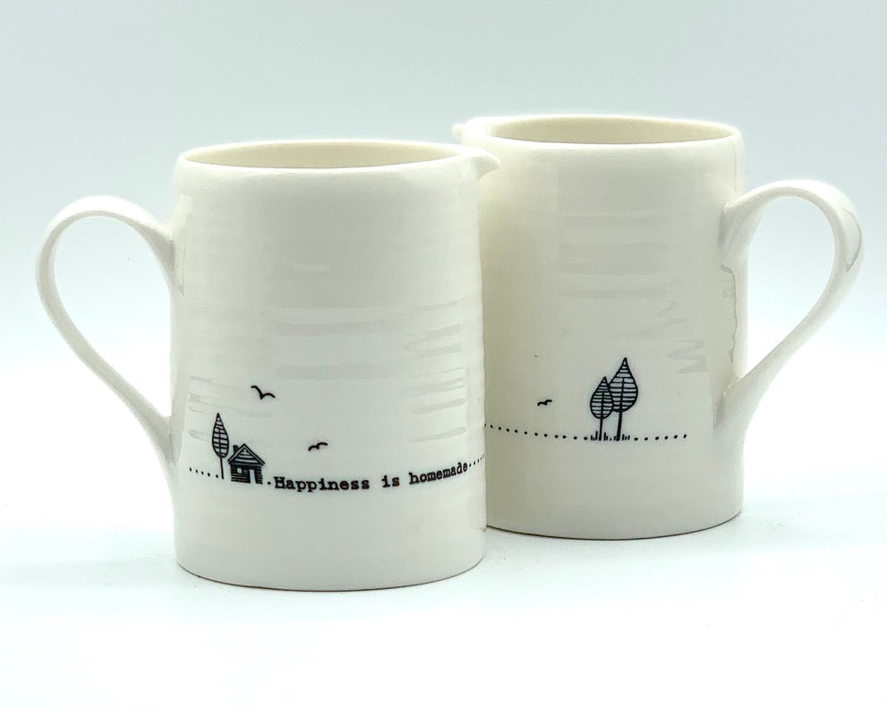 Small Milk Jug Gift- Happiness is Homemade