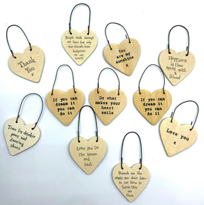 Wooden Love heart Gift Tags