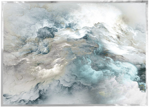 Dramatic Blue and Grey Cloud Wall Print