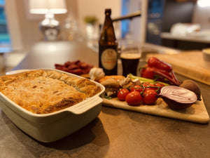 Beef & Guinness Pie (Serves 6)