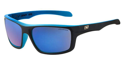 DD Axle-Satin Black Crystal Blue-Grey|Blue Mirror Polarised Sunglasses Dirty Dogs