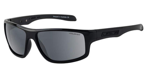 DD Quantum Black Grey Polarised Sunglasses Dirty Dogs