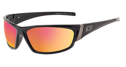 DD Stoat-Black-Grey|Red Fusion Mirror Polarised Sunglasses Dirty Dogs