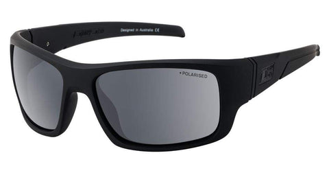 DD Stray -Satin Black/Grey Polarised Sunglasses Dirty Dogs