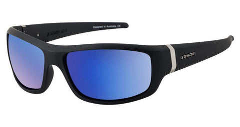 DD Vimp Satin Black Fusion Mirror Polarised Sunglasses Dirty Dogs