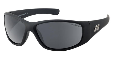DD Wolf Satin Black-Grey Polarised