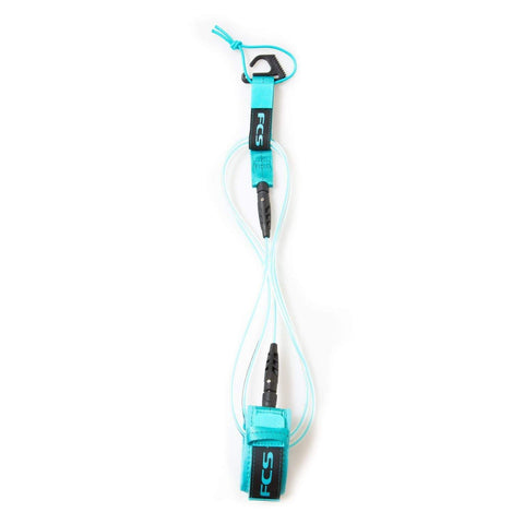 FCS 6' Comp Essential Leash Leashes FCS Blue