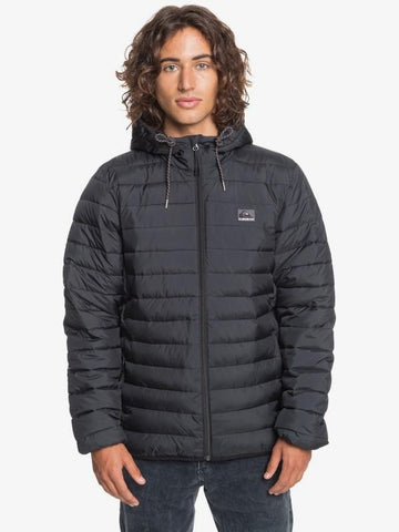 Scaly Hooded Jacket - Black Men's Jackets Quiksilver S