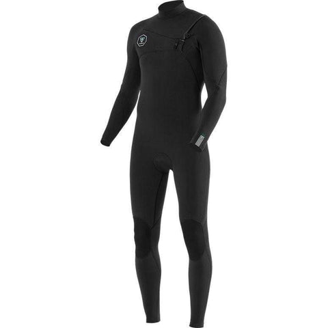 Seven Seas 3/2 Chest Zip Black/Jade 2020 Wetsuits Vissla S
