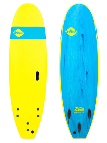 "Softech Roller 7'6"" Softboard Softech Ice Yellow"