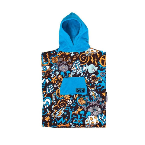 Toddler's Hippy Skull Hooded Poncho - Multi Changing Robes Ocean & Earth