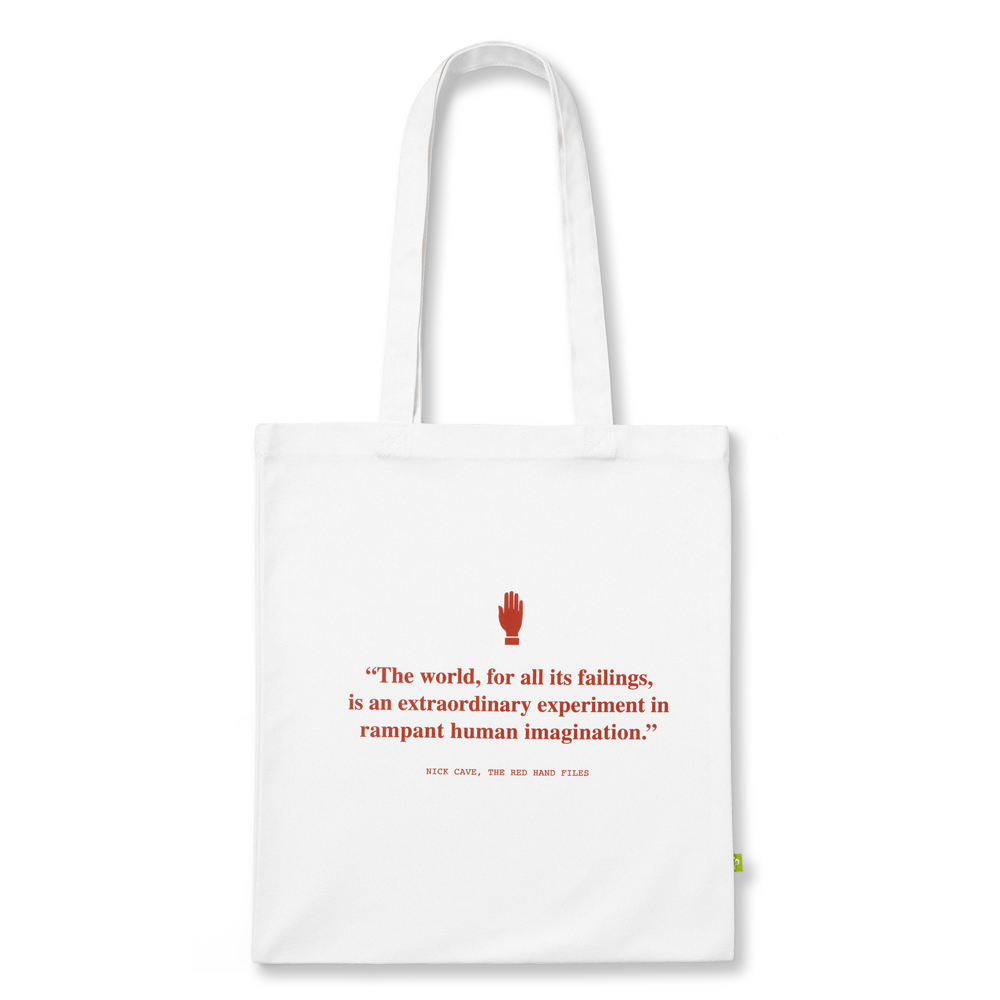 Nick Cave - Red Hand Files Tote Bag