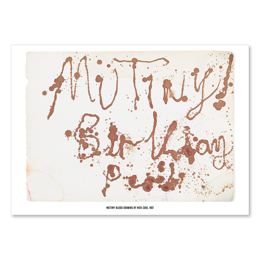 Nick Cave - Mutiny Poster