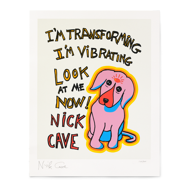 VIBRATING DOG LIMITED EDITION SILK SCREEN PRINT