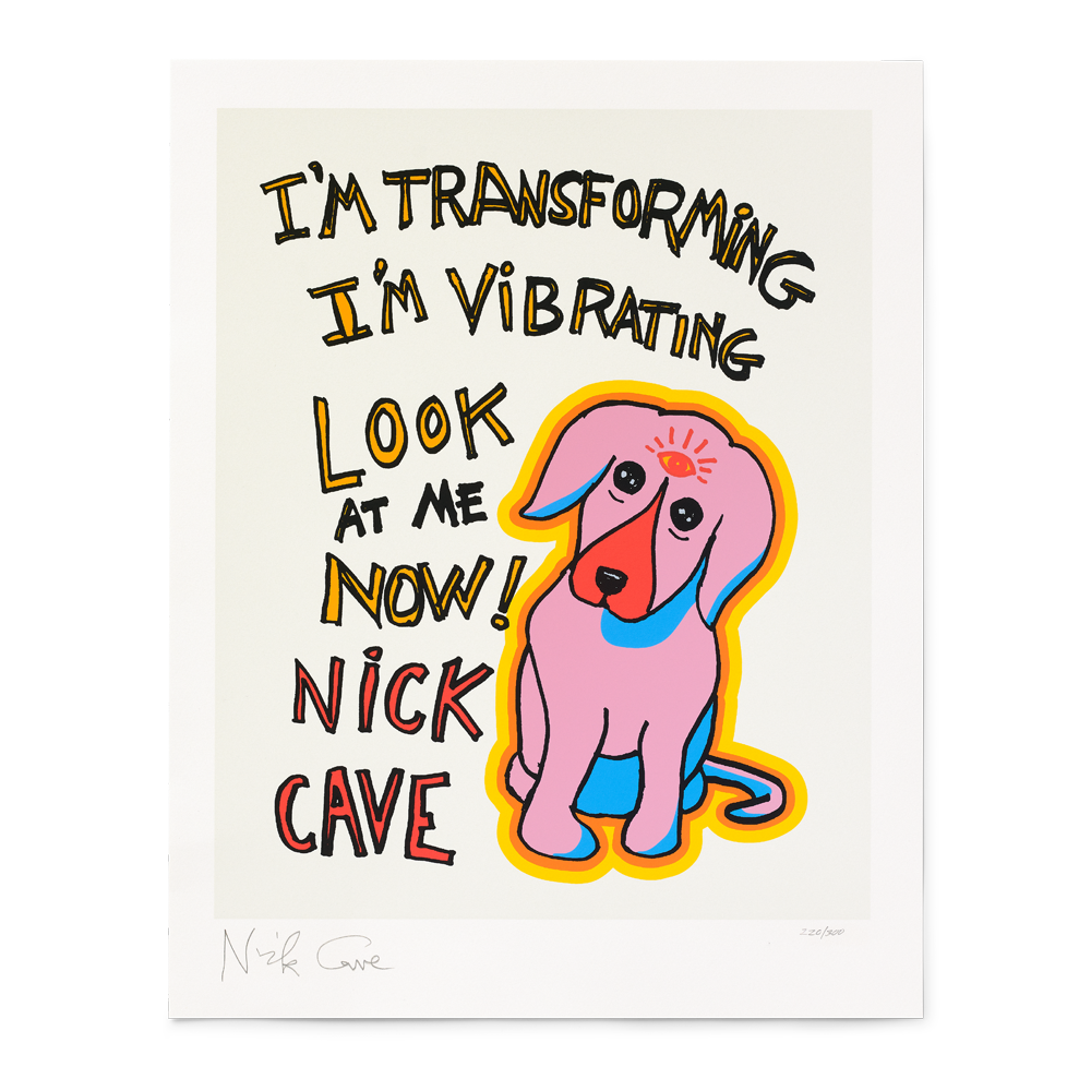 Load image into Gallery viewer, VIBRATING DOG LIMITED EDITION SILK SCREEN PRINT
