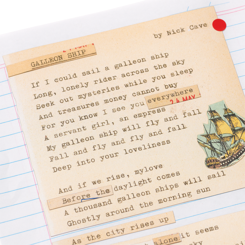 Load image into Gallery viewer, Galleon Ship Limited edition lyric sheets