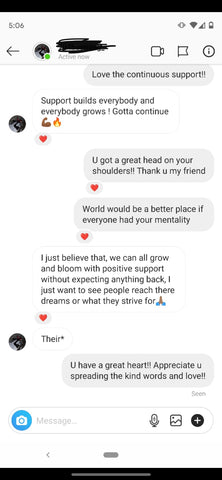 Instagram DM Conversation with Customer