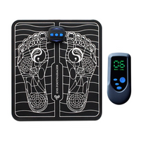 EMS Rechargeable Foot Massager Mat with Pulse Acupuncture for Muscle Stimulation, Relaxation and Legs Circulation Boost