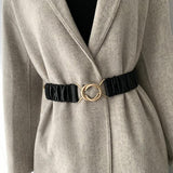 Ruched Double Circle Waist Belt
