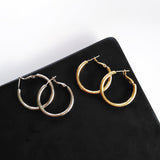 3.5 Hoop Earrings