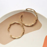 Bamboo Hoop Earrings