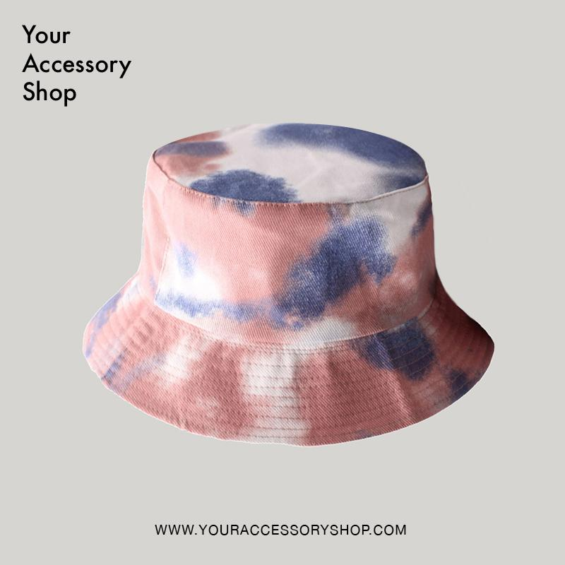 W Reversible Tie Dye Bucket Hat