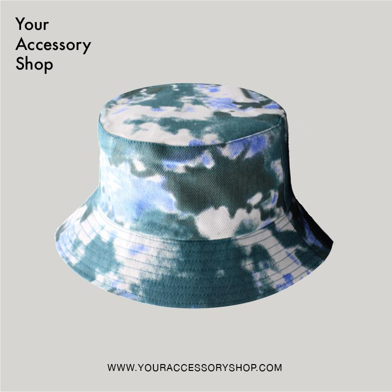N Reversible Tie Dye Bucket Hat