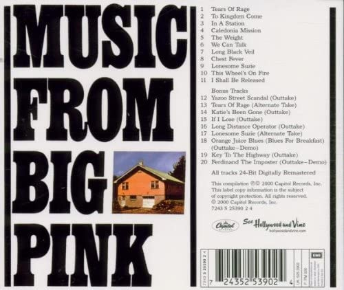 Band, The/Music From Big Pink [CD]