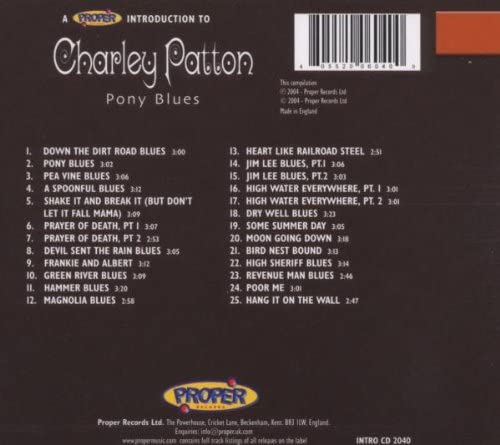 Patton, Charley/A Proper Introduction To [CD]